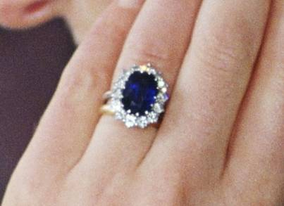 Kate Middleton Engagement Ring Closeup