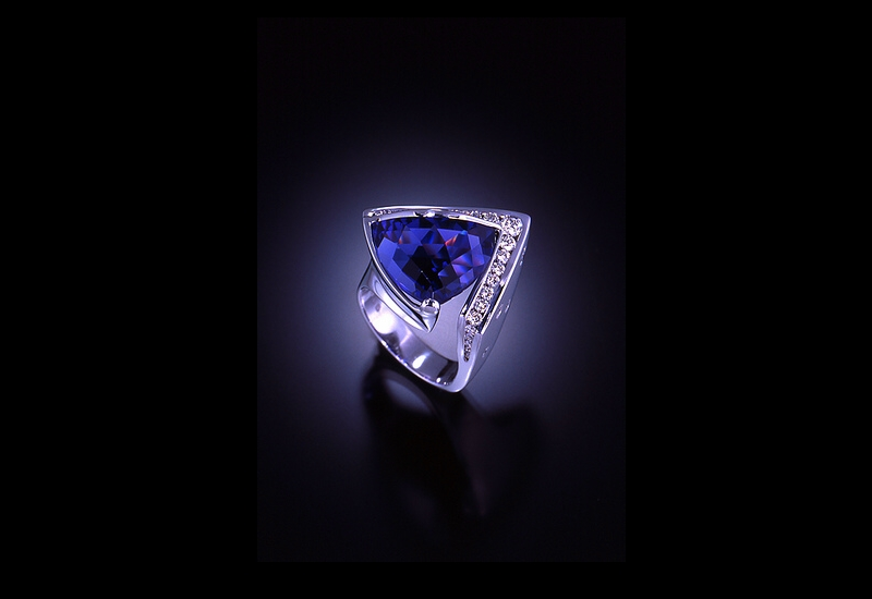 Tanzanite Platinum Ring