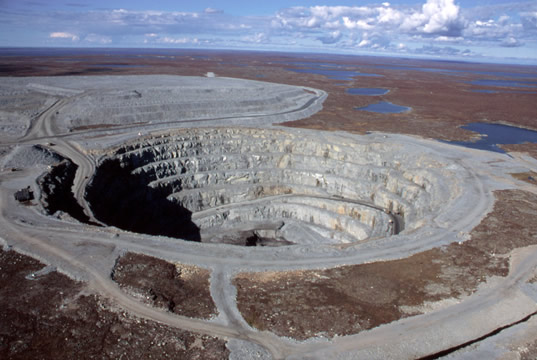 Open Pit ekati diamond mine