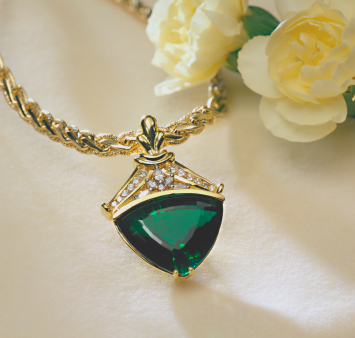 Emerald Pendant - Treated Emerald