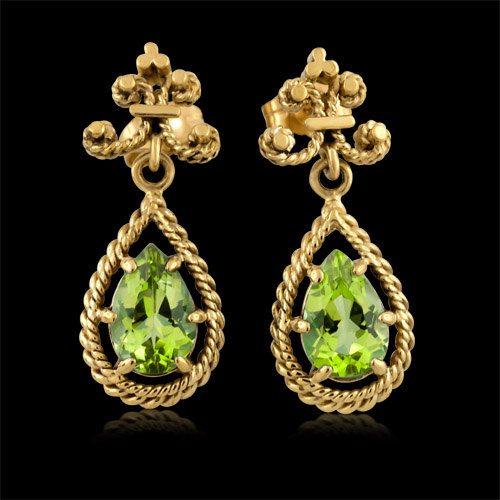 Peridot Earrings Jewelinfo4u Gemstones And Jewellery Information Portal