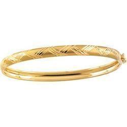 14k Yellow Gold Child Bangle Bracelet_full