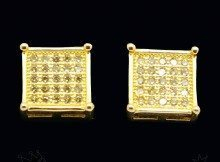 18k-Gold-Canary-ICED-OUT-Micropave-Silver-Square-Hip-Hop-AAA-CZ-Mens-Earring-3C-171382379369-5