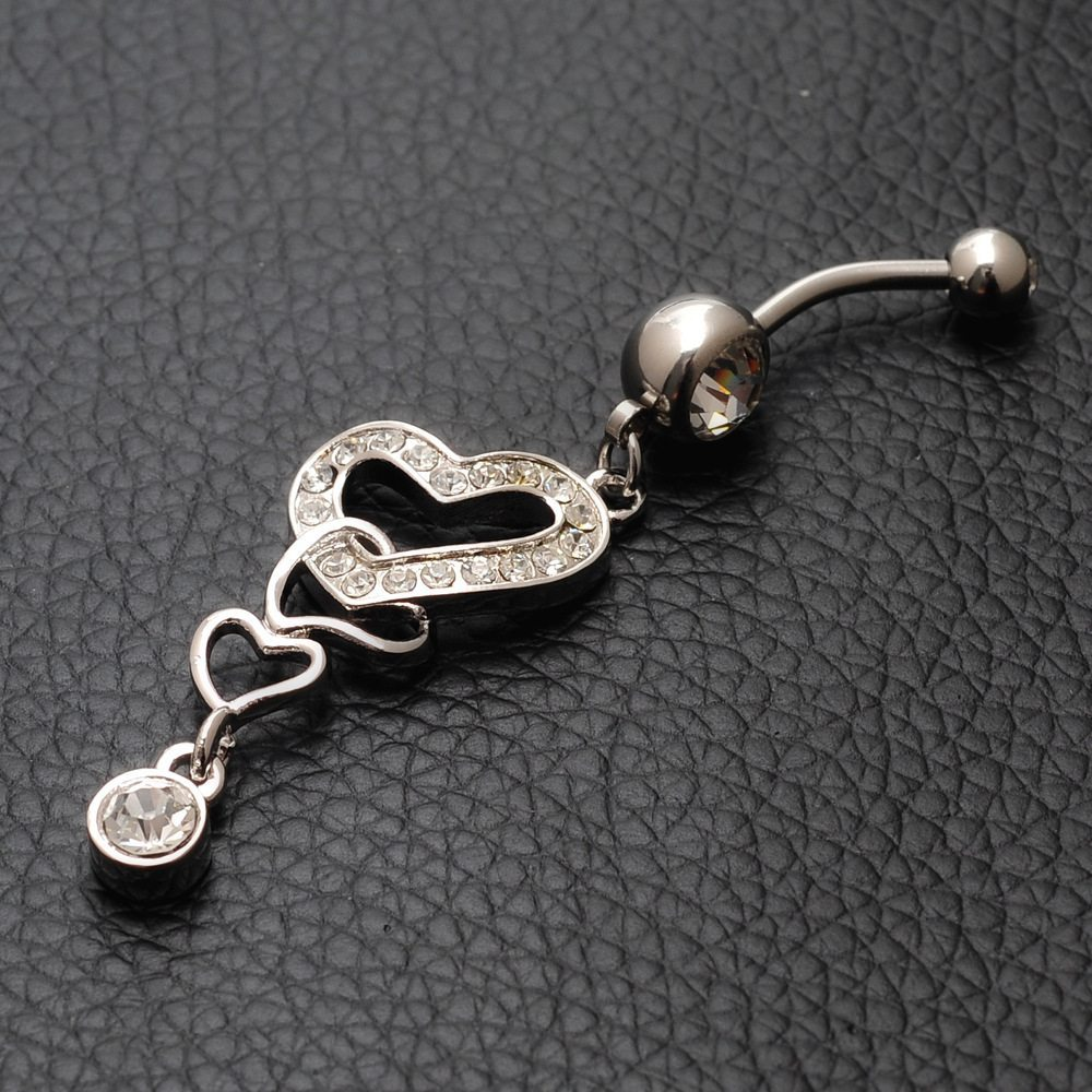 2015-Sexy-Body-Jewelry-Heart-Type-Body-Navel-Piercing-Jewelry-Gold-plated-Pendant-Alloy-Belly-Ring