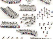 220pcs-11styles-Body-Jewelry-lots-Belly-Tongue-Lip-Rhinestone-Piercing