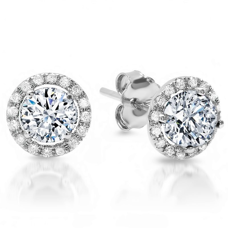 round gold platinum diamond carats total stud four dimond claw ella studs earrings white