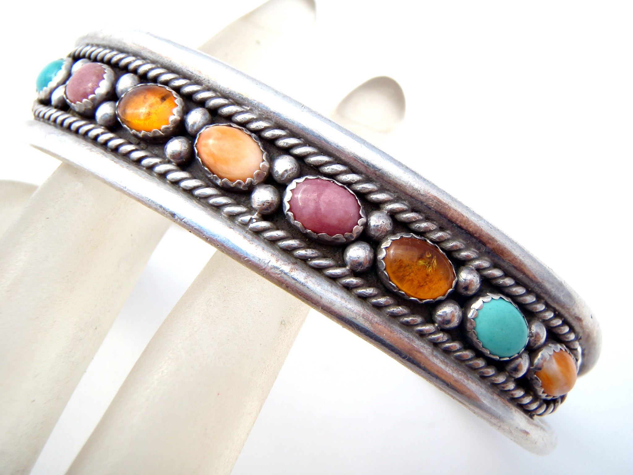 Carolyn-Pollack-Sterling-Silver-Gemstone-Cuff-Bracelet-the-jewelry-lady_s-store_7