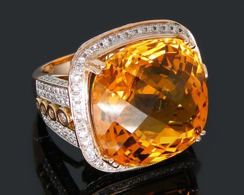 Free-Shipping-Solid-18Kt-Jewelry-Yellow-Gold-29-97Ct-VS-Diamond-Citrine-Ring-Amazing-Fancy