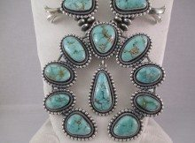NE8404-Large-Carico-Lake-Turquoise-Squash-Blossom-Necklace-by-Navajo-Jewelry-artist-Ernest-R.-Begay-photo-2