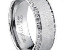 Oliveti-Brushed-Titanium-Mens-Round-cut-Cubic-Zirconia-Comfort-Fit-Wedding-Band-8-mm-P16276618