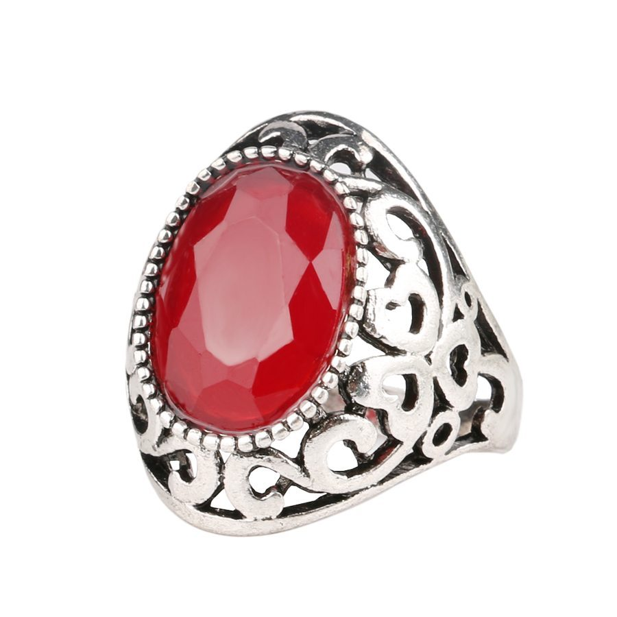 Vintage-Oval-Resin-Stone-Ring-Hollow-Pattern-Ruby-Big-Rings-For-Women-Jewelry-Wholesale-Mixed-Lot
