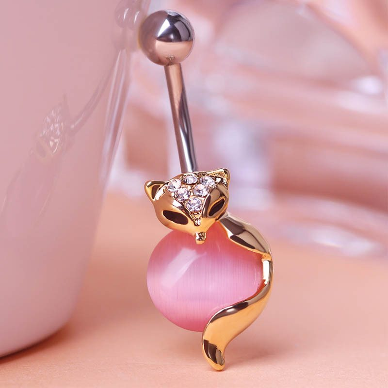 Wholesale-Price-Steel-Navel-Piercing-Lot-Collar-Fox-Body-Jewelry-Womens-Sexy-Belly-Button-rings-Noble