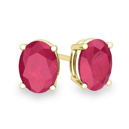 Ruby Stud Earrings Jewelinfo4u Gemstones And Jewellery Information Portal