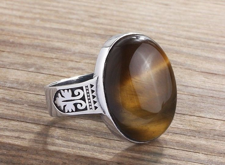 rings oval eye or solid men s tiger gold mens in yellow ring