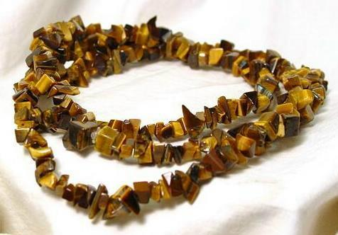 Tiger eye stone will sharpen your power during wearing tigereye chip necklace 68290 mozeypictures Images
